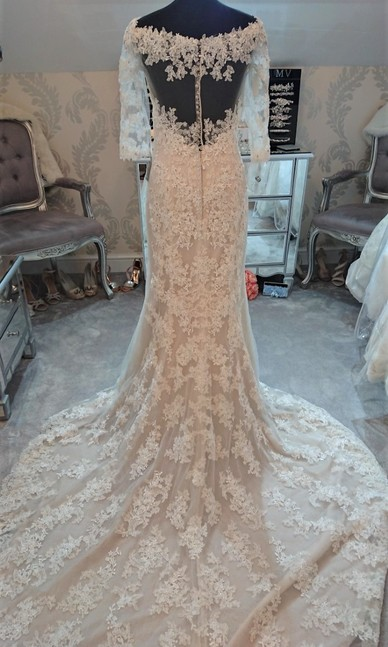 Sophia Tolli French Beige size 8/10 - Back