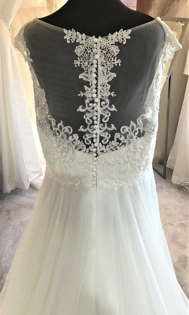 Marys Bridal Ivory size 24 Back